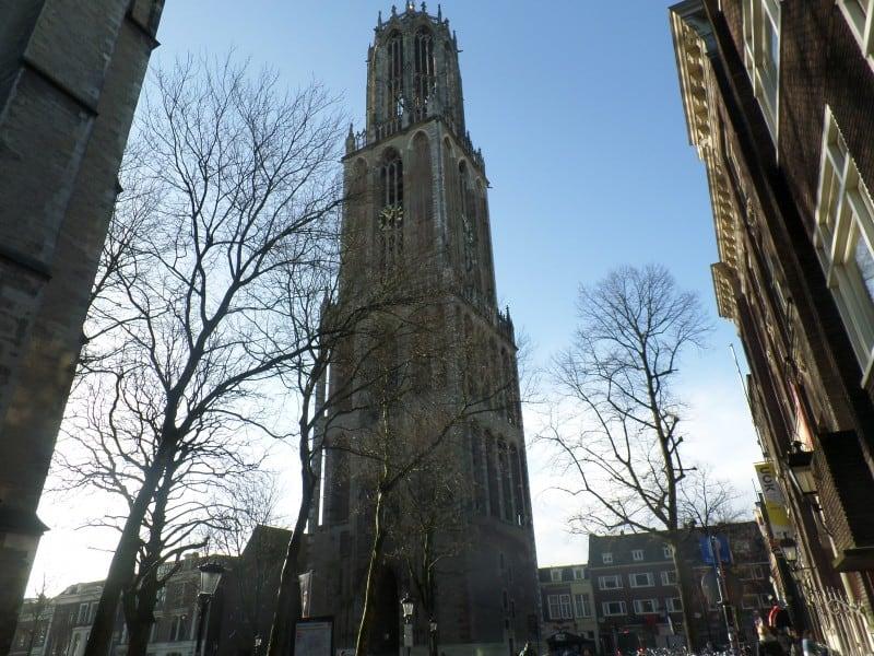 homenagem a David Bowie na Domtoren em Utrecht