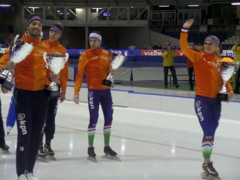Patinação de velocidade no gelo - volta olímpica