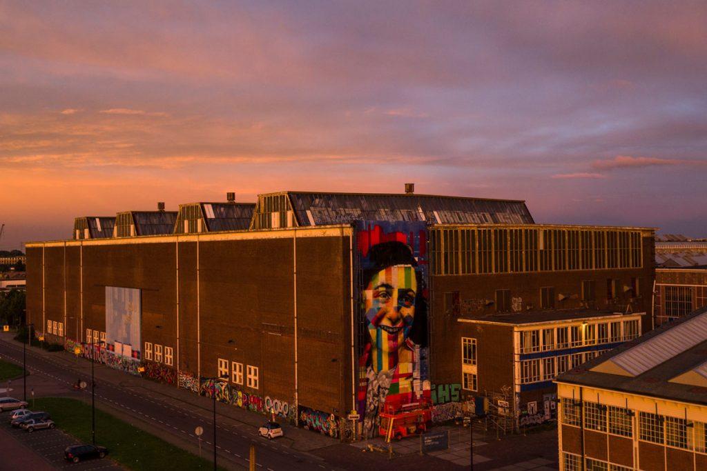 Mural da Anne Frank do Kobra no futuro museu de Street Art