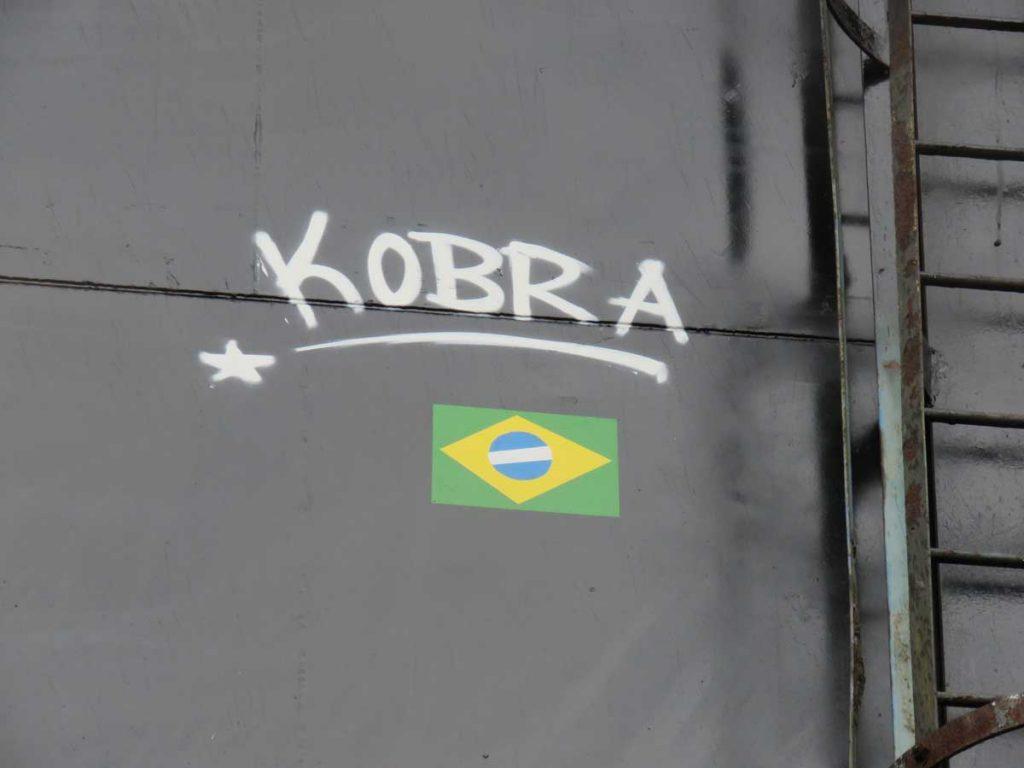 Kobra deixando sua marca em Amsterda