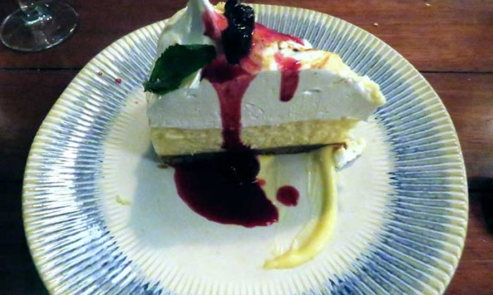 Restaurante do Jamie Oliver em Rotterdam - cheesecake