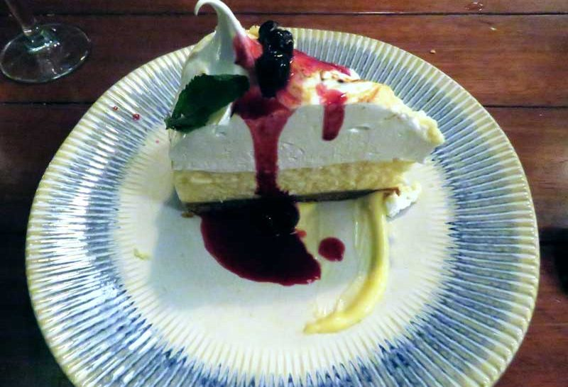 Restaurante do Jamie Oliver em Rotterdam - cheesecake