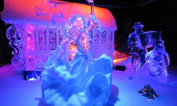 Festival de Escultura no Gelo na Holanda - Música Cigana