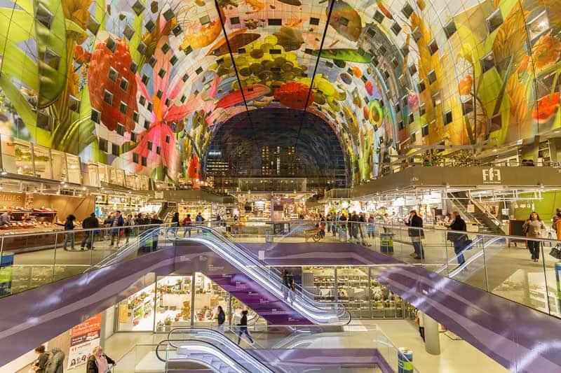 Markthal Rotterdam Arte no Teto: a Cornucopia