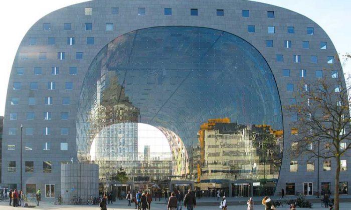 Fachada do Markthal, o mercado de Rotterdam