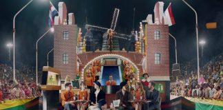 Comercial Heineken Orange Fever para a Copa do Mundo no Brasil. Holanda aparece em um desfile de escola de samba durante o carnaval.