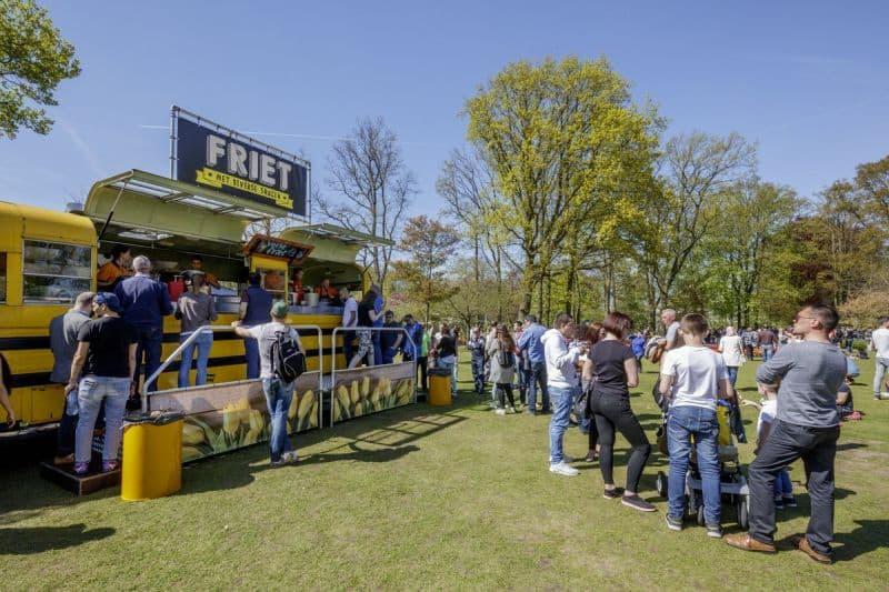 Food truck de batata frita holandesa no Keukenhof