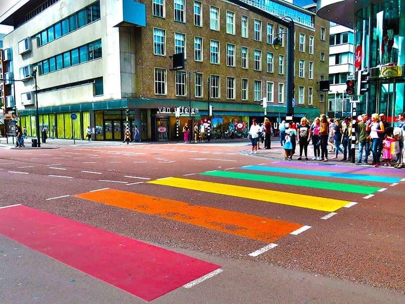 Faixa de Pedestre Colorida Holanda Utrecht