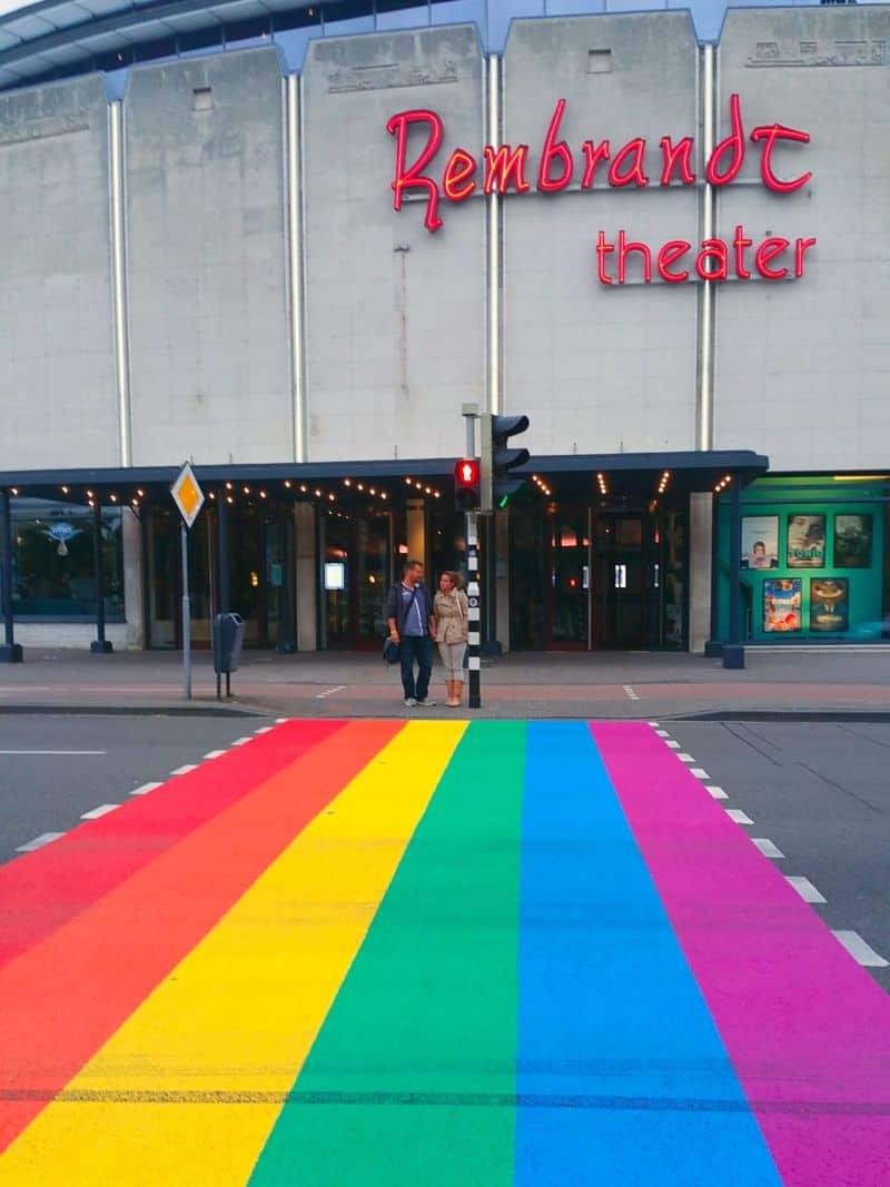 Faixa de Pedestres Colorida em Arnhem, na Holanda