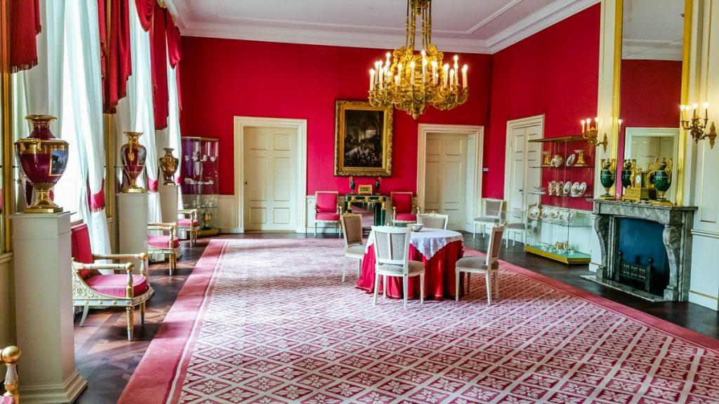 Sala de recepção do Palacio Noordeinde em Haia, onde fica o gabinete de trabalho do Rei da Holanda, Willem-Alexander