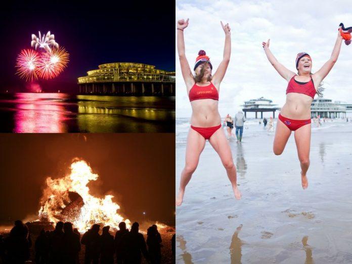 O Réveillon em Schevenigen na Holanda é uma ótima alternativa a Amsterdam, com a maior fogueira do mundo, mergulho e lindos fogos de artifício