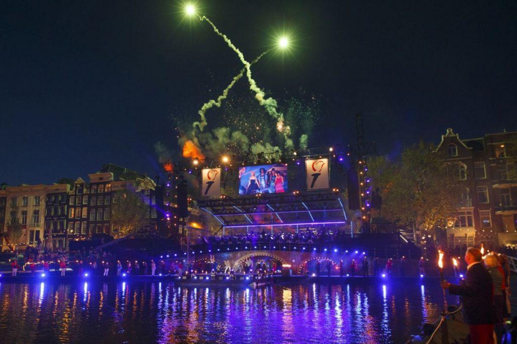 Concerto no Amstel, em Amsterdã, durante o Dia da Libertação